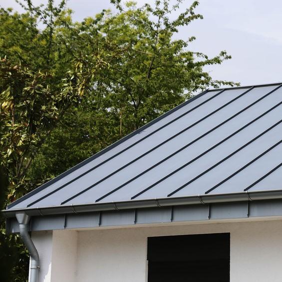 sloped metal roof