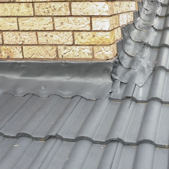 flashing on a metal roof