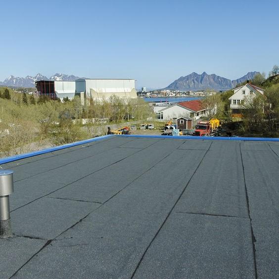 flat black roof