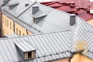 Energy Efficient Roofing in the Form of Metal on an Apartment Complex.