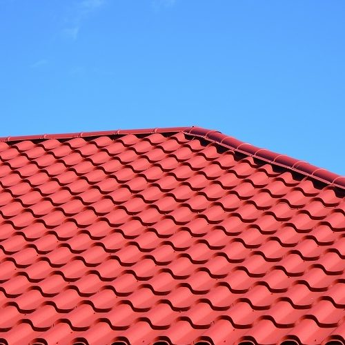 A New Red Metal Tiled Roof.